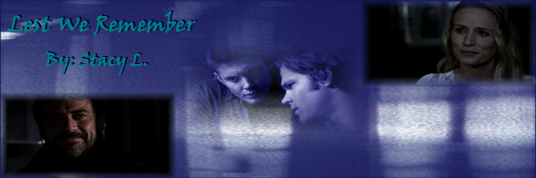 Banner for fic Lest We Remember created by Stacy L